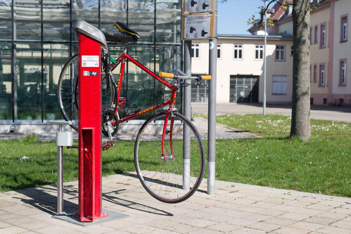 Das Fahrrad ist bereits repariert