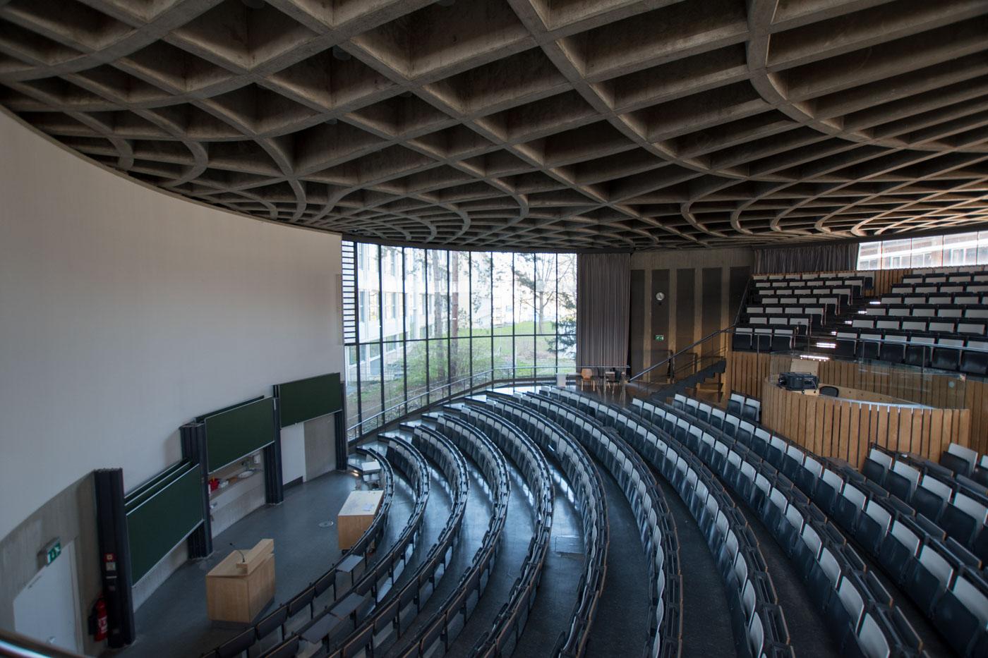 Runder Hörsaal von oben