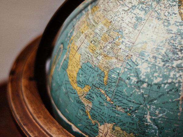 Globus in Nahaufnahme